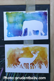 Animal Watercolor Silhouettes