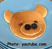 Bear Face Pancake