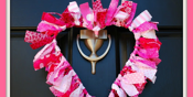 Fabric Heart Wreath