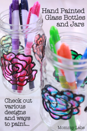 Handpainted Glass Jars