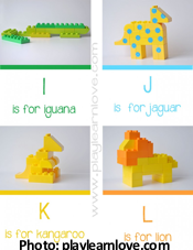 Lego Animal Cards