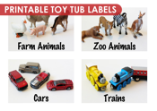 Toy Tub Labels